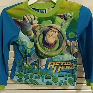 Boys Buzz Light Year Pajama Shirt Size 6-7